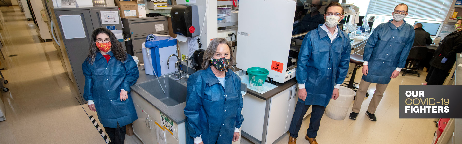 Ashley Frazer-Abel with her team in her lab