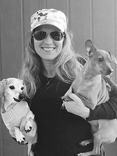 Boyrer with her dogs