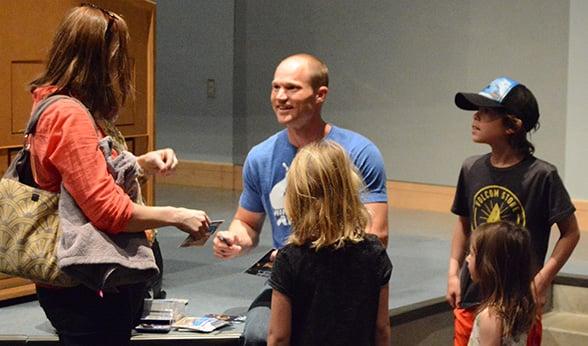 Brian Arnold greets ninja fans
