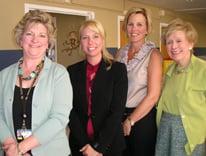 College of Nursing colleagues Amy Barton, Erica Schwartz, Angie Romani and Terry Biddinger