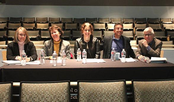 Judges panel at public health case competition