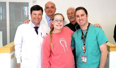 Dental team and Courtney Caudill