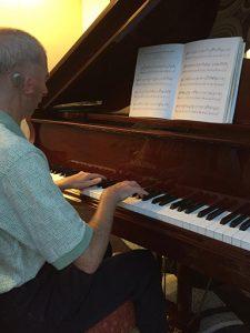 Francis Smith at the piano