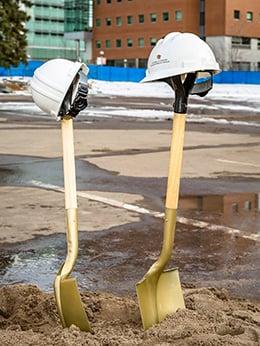 Shovels at groundbreaking
