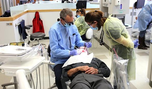 Veteran receives dental care at CU Heroes Clinic