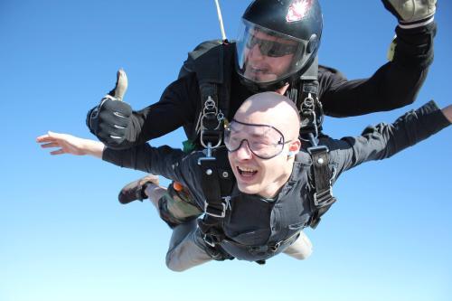 Justin Boley skydiving