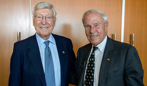 Bernard Marcus and CU President Bruce Benson