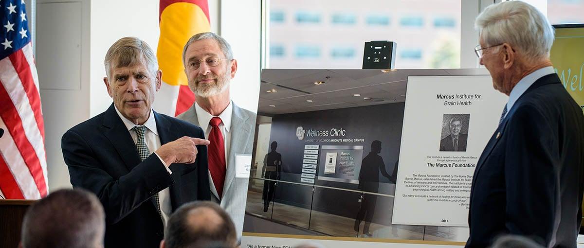 Plaque of Marcus Institute for Brain Health at CU Anschutz