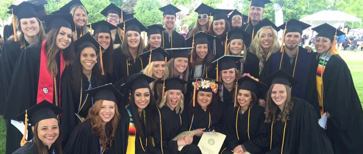 CU South Denver nursing cohort at graduation
