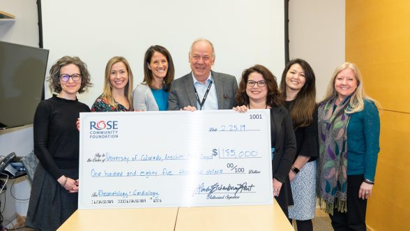 Peter M. Buttrick, MD, awarded a surprise grant from the Rose Community Foundation