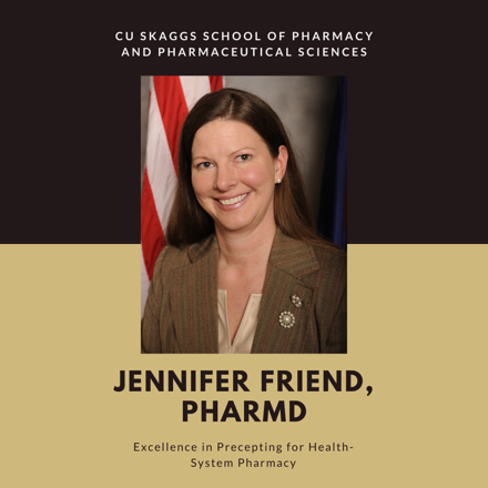 Preceptor Award Winner Jennifer Friend
