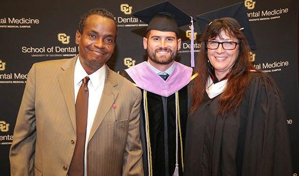 Willie, Bill and Heidi at CU School of Dental Medicine graduation