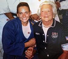 Yannetsos and Barbara Bush