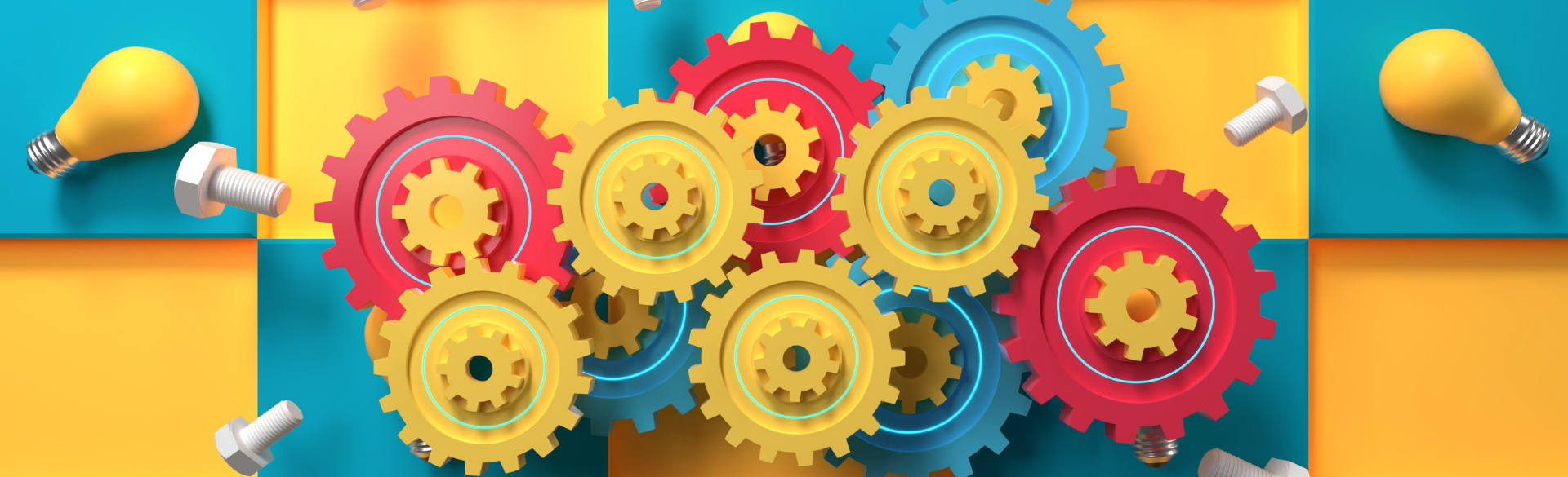 yellow and red gears