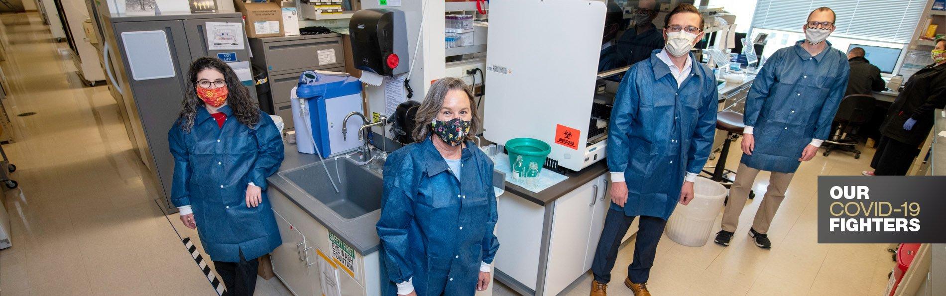 Ashley Frazer-Abel with her team in her lab