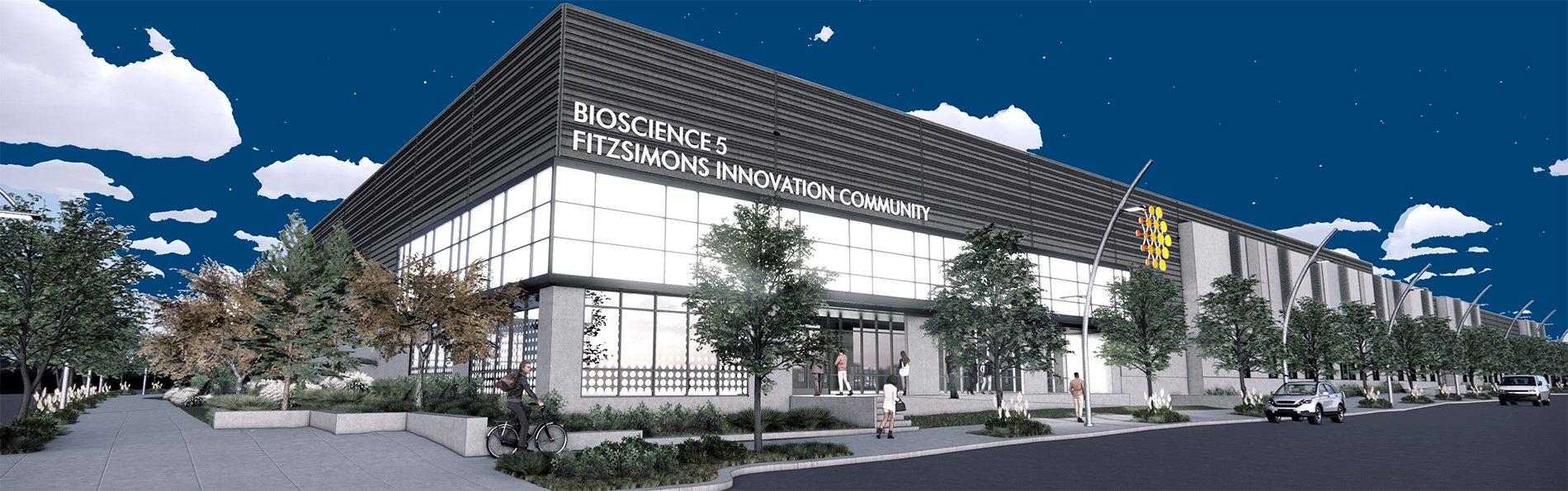Rendition of  Bioscience building