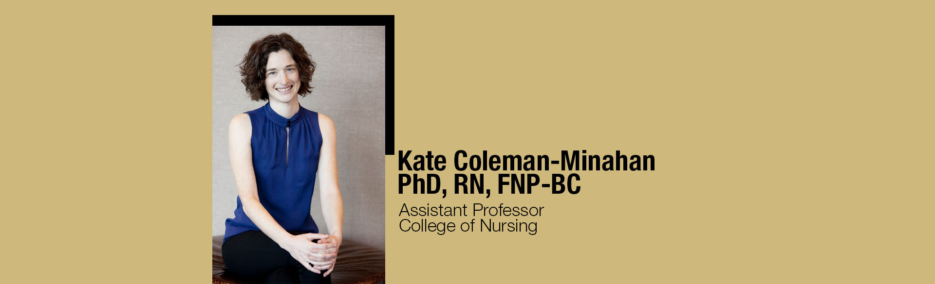 CU Assistant Professor Kate Coleman-Minahan
