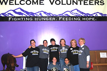 College of Nursing representatives volunteer at Food Bank of the Rockies