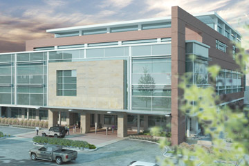 Rendering of the new University of Colorado Eye Center