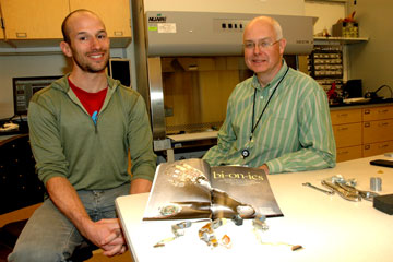 Student Jacob Segil and Richard Weir, PhD, are developing advanced hand prosthetics in a lab at CU Anschutz Medical Campus