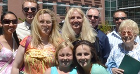 Diane Banet and family