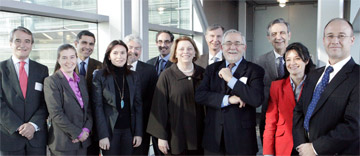 Spanish health care leaders and university officials