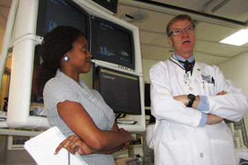 Ed Havranek, MD and a student