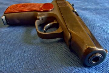 Gun on bed