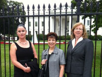 Photo: left to right: Amy Nelms, Janet Ellingson and Donna Kenney at White House