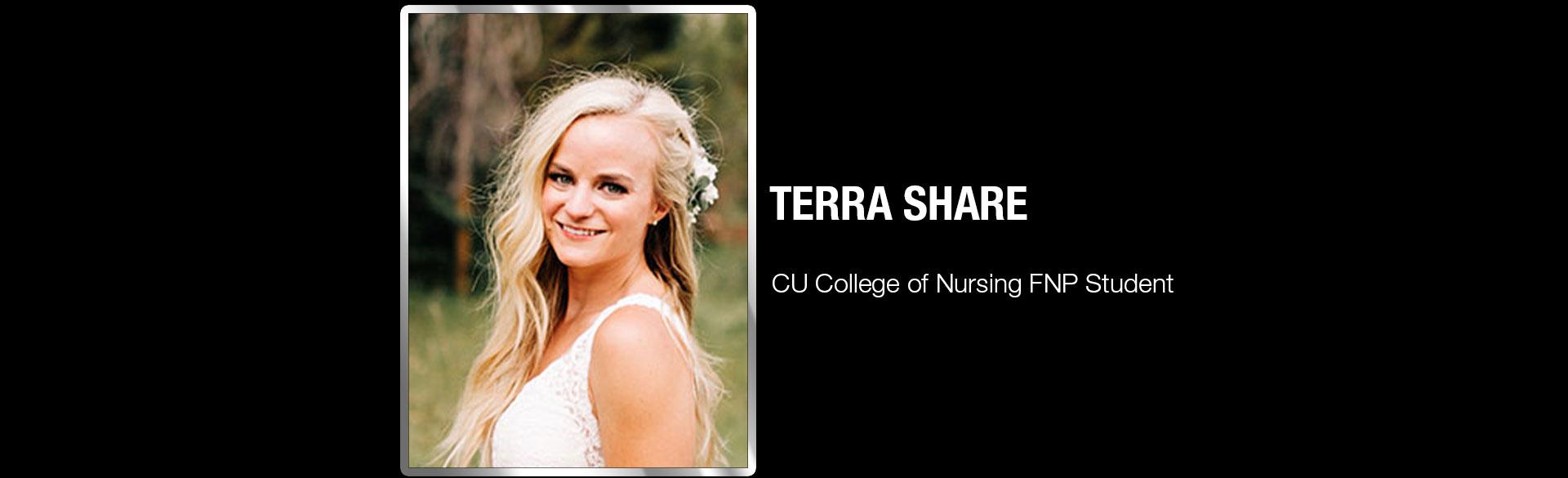 Terra Share, CU College of Nursing FNP Student